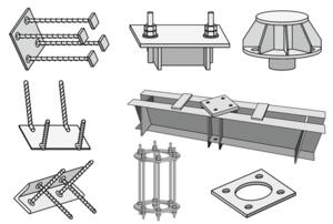 Металлические элементы фундаментов серия 3.407-115, серия 3.407.9-146, серия 3.407.2-162